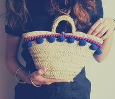 Super chic little straw bag #mediterranean #basket #handicrafted