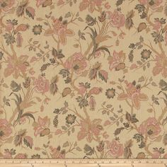 Fabricut Chase Park Rose from @fabricdotcom  Screen printed on 100% linen, this lightweight fabric features a floral pattern and is perfect for window accents (draperies, valances, curtains, and swags), accent pillows, duvet covers, and upholstery projects.