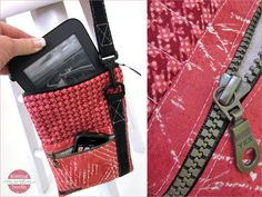 Kissing Booth eReader/Device Carrier with Pockets and Shoulder Strap   Sew4Home