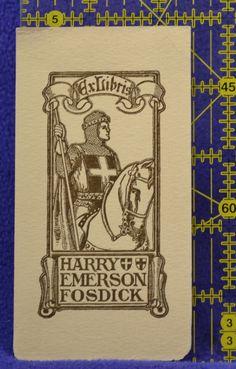 Bookplate of Harry Emerson Fosdick