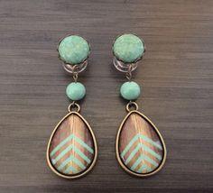 0g Dangle Plugs 4g, 2g Gauged Earrings Mint Chevron Wood Pattern Teardrop Plugs 6g Ear Plugs, 00g Dangly Body Jewelry by PrettyVagrant on Etsy https://www.etsy.com/listing/217957269/0g-dangle-plugs-4g-2g-gauged-earrings
