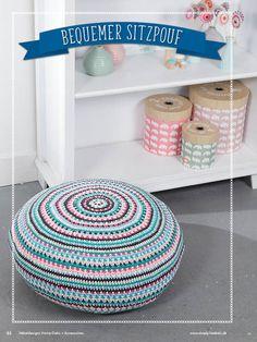 Häkelanleitung Pouf Simply Kreativ Häkeldesigns Home Deko Accessoires 0117