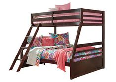 Shop for the Signature Design by Ashley Halanton Solid Pine Twin/Full Bunk Bed w/ Under Bed Storage at Esprit Decor Home Furnishings - Your Chesapeake, Virginia Beach, Norfolk, VA Furniture & Mattress Store Under Bed Drawers, Bunk Beds With Drawers, Bunk Beds With Storage, Loft Storage, Bunk Beds With Stairs, Under Bed Storage, Twin Full Bunk Bed, Full Size Bunk Beds, Loft Bunk Beds