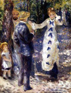Pierre August Renoir. El columpio. 1876. (Impresionismo)