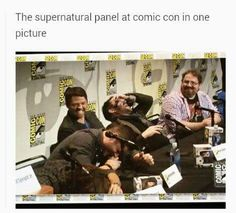 I wanna go to a supernatural panel so bad
