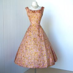 vintage 1950's dress never worn couture designer MOLLIE by traven7, $340.00