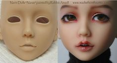 """""""Narae"""" by Narin Dolls (MSD), Painted by Robbin Atwell -- Before & After 