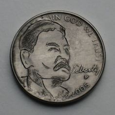 Joe Gallagher - Joseph Stalin Joseph Stalin, Hobo Nickel, Antique Coins, Jewelry Collection, Carving, Antiques, Antiquities, Antique, Wood Carvings