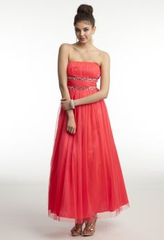 Long Strapless Prom Dress with Double Beaded Band from Camille La Vie and Group USA