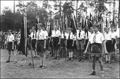 Hitler Youth - swear to obey Hitler before the war ever begins. A great societal brainwashing took place then and it can happen again
