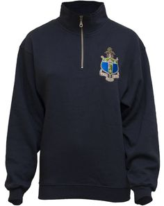 Delta Gamma Embroidered Crest Half-zip