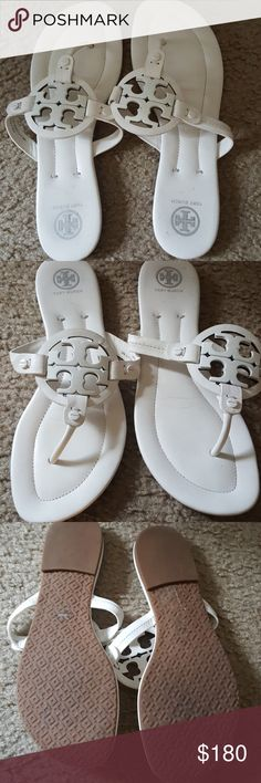 Tory Burch Aurhentic made in Brazil...size 9. Excellent condition...barely worn! Good closet find. Summer is ready for you😉 Tory Burch Shoes Sandals