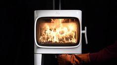 Печь камин JOTUL F 305 - красивое горение - YouTube