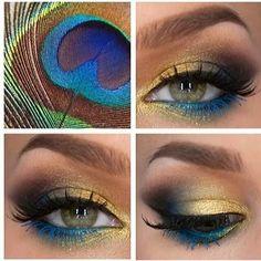 Dramatic Peacock Inspired Eye Makeup Ideas - Top Dreamer