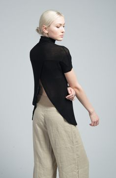 NEW Short Sleeve Blouse / Backless Top / Sexy Top von marcellamoda