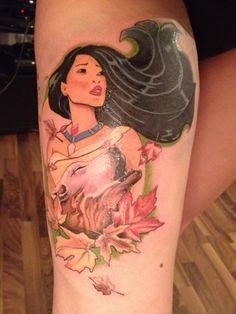 Pocahontas tattoo//Artist in Münzenberg, Germany