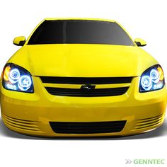For Ccfl Halo 05 10 Chevy Cobalt Led Projector Headlights Blk Head