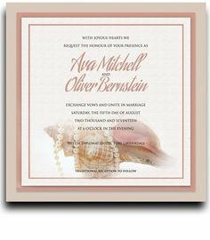 160 Square Wedding Invitations - Nautilus Pearls My Jewel by WeddingPaperMasters.com. $419.20. Now you can have it all! We have created, at incredible prices & outstanding quality, more than 300 gorgeous collections consisting of over 6000 beautiful pieces that are perfectly coordinated together to capture your vision without compromise. No more mixing and matching or having to compromise your look. We can provide you with one piece or an entire collection in a one stop shopping ...