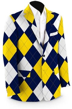 Mens Sport Coats by Loudmouth Golf - Blue & Gold Mega.  Buy it @ ReadyGolf.com