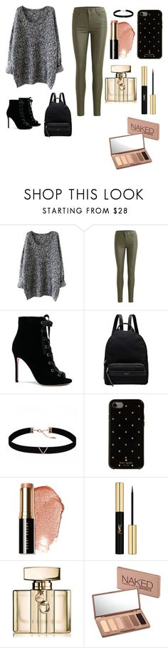"""Fashion"" by merve-hotkid on Polyvore featuring Object Collectors Item, Gianvito Rossi, Radley, Astrid & Miyu, Kate Spade, Bobbi Brown Cosmetics, Yves Saint Laurent, Gucci and Urban Decay"