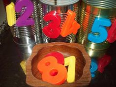 My HomeMade Montessori: TODDLER INTERACTION WITH MAGNETIC NUMBERS AND CANS