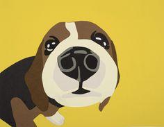 """Saatchi Online Artist: Rankin Willard; Paper, 2013, Assemblage / Collage """"Beagle"""""""