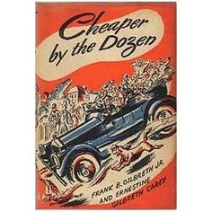 Cheaper By The Dozen was one of my favorites! My seventh grade teacher, Mrs. Bradshaw, told me about it. I think it's one of the reasons I love the 1920s. It's not a bit like the modern movie, though there is an older version of the book that was made!
