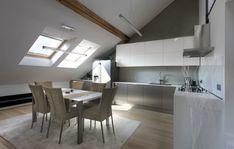 La #ristrutturazione di un #loft sottotetto #mansarda #cucina