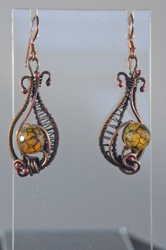 Wire Wrapped Dragon Vein Agate Earrings - Simply Unique Jewelry