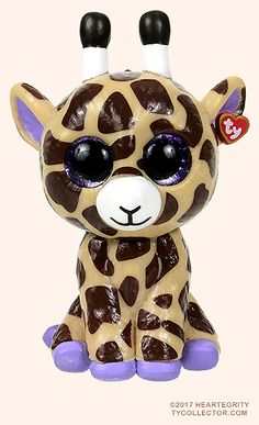 Safari, Ty Mini Boos Series 1 giraffe, reference information and photograph. Mini Boo, Ty Toys, Harry Potter, Ty Beanie Boos, Clay Creations, Big Eyes, Easter Bunny, Giraffe, Safari