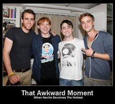 That awkward moment, when Neville becomes the hottest. handsome-dudes-being-handsome