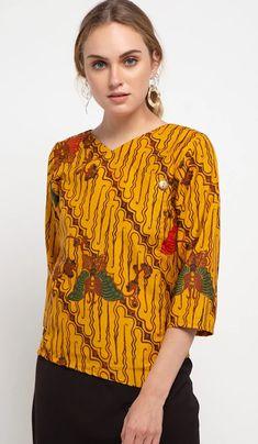 Blouse Batik, Batik Dress, Batik Parang, Blouse Designs, Beautiful, Tops, Dresses, Women, Fashion