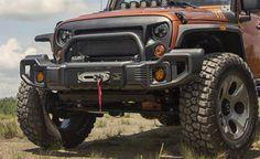 Rugged Ridge, 11544.09 - Spartacus Front Bumper Kit, Satin Black; 07-16 Jeep Wrangler JK - Available at the JeepHut
