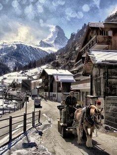 Winter in Zermatt, Switzerland #coolplaces