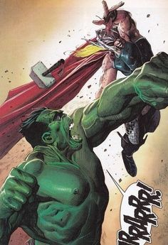 #Hulk #Fan #Art. (Hulk vs Thor) By: Jerome Opena. ÅWESOMENESS!!!™ ÅÅÅ+