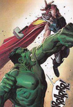 #Hulk#Fan #Art. (Hulk vs Thor) By:Jerome Opena. ÅWESOMENESS!!!™ ÅÅÅ+