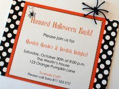 Simple Halloween Invitation