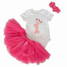 3 Stks Set Meisje Crown Tutu Jurk Zuigeling 1e Verjaardag Outfit Romper Bubble Rok Hoofdband Bebe Pasgeborenen Tulle Vestidos
