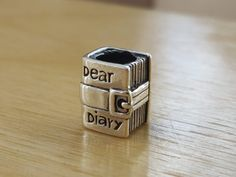 Silver Diary Charm Silver Apples, Dear Diary, Uk Shop, Sterling Silver Chains, Class Ring, Charms, Cufflinks, Rings For Men, Pendants