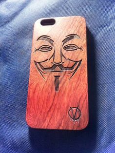 V for Vendetta Wood Phone Case - Anonymous Inspired