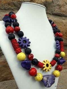 Fiesta Necklace, Statement Necklace, Colorful Fiesta Necklace, 3-in-1 necklace, Unique Necklace, Mother's Day