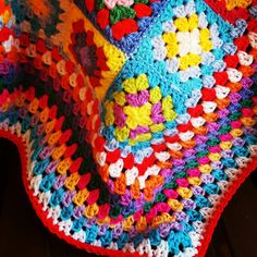 Ready to Ship 50% OFF Granny Squares Retro Blanket by Thesunroomuk