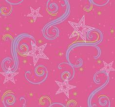 York Wallcoverings Disney Kids Pink/Purple/Green With Glitter Paper Geometric Wallpaper