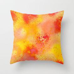 orenji Throw Pillow by PatternPrincess - $20.00