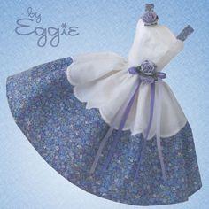 Sweet Violet - Vintage Barbie Doll Dress Reproduction Repro Barbie Clothes