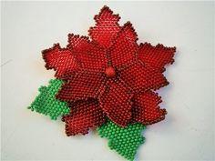 Рождественская Пуансетия | biser.info - всё о бисере и бисерном творчестве
