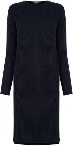 Womens navy cable effect stitch tabbard from Warehouse - £49 at ClothingByColour.com