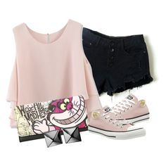 Untitled #1027 by lisamoran on Polyvore featuring polyvore fashion style Chicwish Converse Disney Waterford