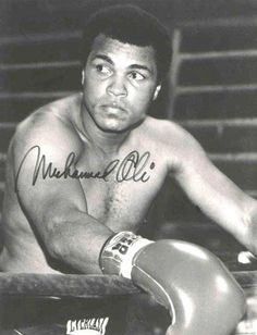 Muhammed Ali  My fav pic it took a while to find it