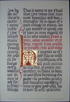 Fragmented text from Plato. Calligraphy, Georgia Angelopoulos